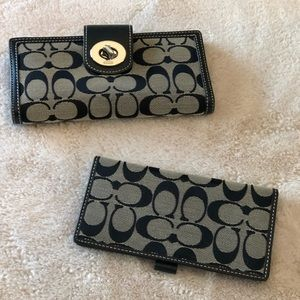 Coach wallet with matching checkbook cover